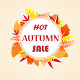 Leaves autumn sale Royalty Free Stock Photo