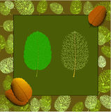 Leaves in the autumn style. Royalty Free Stock Photos