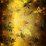 Leaves Background. An illustrated background of a pattern of beautiful leaves vector illustration