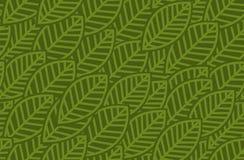 Leaves background pattern - vector illustration Stock Images