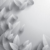 Leaves background. Wide copy space for text. Royalty Free Stock Image