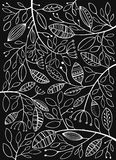Leaves on a black background Stock Photo