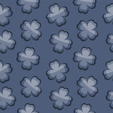 Leaves on Blue Background. Seamless texture Stock Image