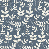 Leaves branches floral seamless pattern. Stock Image