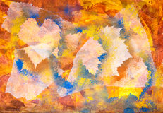 Leaves brown and yellow painted texture Royalty Free Stock Photography