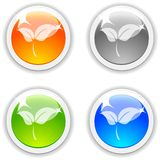 Leaves buttons. Royalty Free Stock Image