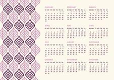 Leaves Calendar Stock Photo