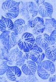 Leaves on a canvas Stock Image