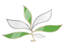 Leaves - chat icon Royalty Free Stock Image