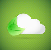 Leaves and cloud illustration design Stock Image