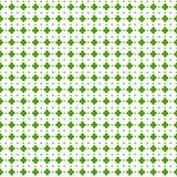 Leaves clover trefoil shamrock  pattern. St. Patrick green background Stock Images