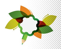 leaves color design over a blank design layer Royalty Free Stock Photos