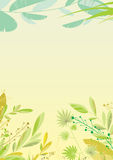 Leaves corner. Illustration. EPS 8.0. RGB. Can be used as template for different backgrounds Royalty Free Stock Image