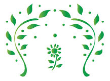 Leaves Design Vector Illustration. This is a vector illustration of green leaves pattern design Stock Photos
