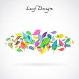 Leaves design on white background. Vector Illustration Royalty Free Stock Images