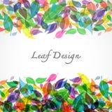 Leaves design on white background. Vector Illustration Royalty Free Stock Image