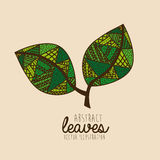 Leaves drawing Royalty Free Stock Photography