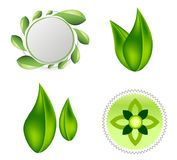 Leaves ecology logo icon design stock illustration