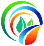 Leaves emblem. Isolated illustrated leaves logo design Royalty Free Stock Image