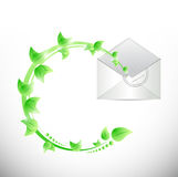 Leaves and envelope illustration design Stock Photography