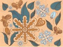 leaves för blommor för ordningsdesign blom- Royaltyfria Bilder