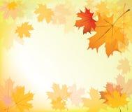 leaves för höstbakgrundsram stock illustrationer
