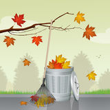 Leaves fall in autumn. Illustration of leaves fall in autumn Royalty Free Stock Photography