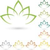 Leaves, flower, naturopath, logo Stock Images