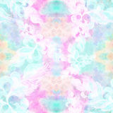 Leaves and flowers - a decorative composition Watercolor. Perfumery and cosmetic plants. Seamless pattern. Wallpaper. Watercolor b Royalty Free Stock Photography