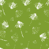 Leaves,flowers hand drawn grunge background Royalty Free Stock Image