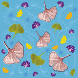 Leaves and Foliage Pattern - Ginkgo Stock Photos