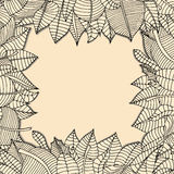 Leaves frame Royalty Free Stock Photography