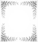 Leaves frame black and white Stock Images