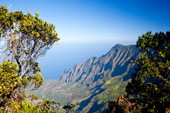 Leaves frame Na Pali Coast Royalty Free Stock Photos