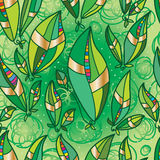 Leaves friend pair seamless pattern Royalty Free Stock Images