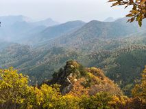 Mountains view. Leaves fun beautiful lovely great fall hiking live life love high Stock Photography