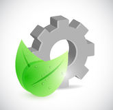 Leaves and gear illustration design Royalty Free Stock Photography