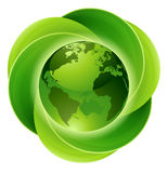 Leaves Globe Circle Concept Stock Photo