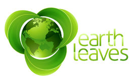 Leaves Globe Earth Concept Royalty Free Stock Photos