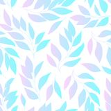 Leaves gradient seamless pattern. Leaves gradient seamless background, pink and blue colored foliage pattern. Vector illustration stock illustration