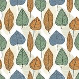 Leaves graphic seamless pattern. Hand drawn design, nature floral foliage. Plant drawing. Vector illustration vector illustration
