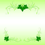 Leaves and grass ornament. Decorative ornament with leaves and grass Royalty Free Stock Image