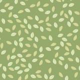 Leaves on green stock illustration