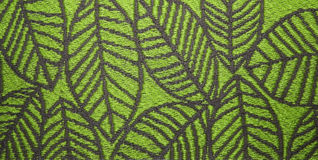 Leaves on green background Stock Photo