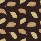 Leaves green and brown seamless pattern background illustration Stock Photo