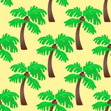 Leaves green palm trees seamless pattern vector summer leaf plant background. Natural design jungle branch garden decoration textile flora forest Stock Image