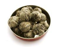 Leaves of green tea Stock Photo
