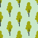 Leaves of green trees seamless pattern vector summer leaf plant background Stock Photography