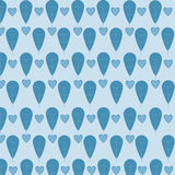 Leaves and hearts pattern royalty free stock images