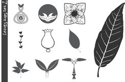 Leaves Icons Set 2 royalty free illustration